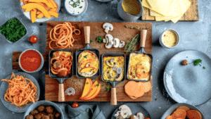 Raclette originale d'automne aux légumes